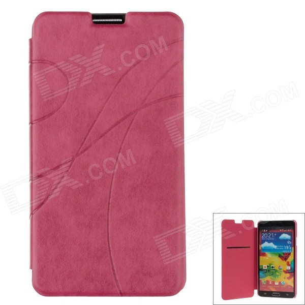 Ultra-thin Stylish Protective PU Leather Case Cover for Samsung Galaxy Note 3 N9000 - Deep Pink metal ring holder combo phone bag luxury shockproof case for samsung galaxy note 8