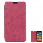 Ultra-thin Stylish Protective PU Leather Case Cover for Samsung Galaxy Note 3 N9000 - Deep Pink