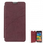Ultra-thin Stylish Protective PU Leather Case Cover for Samsung Galaxy Note 3 N9000 - Claret Red