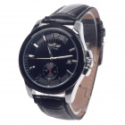 Winner Stylish Automatic Mechanical Smart Men's Wrist Watch w/ Date Display - Black