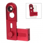 Universal Cellphone Lens Clip + 0.67X Wide Angle + Macro Lens + 180 Degrees Fish Eye Lens - Red