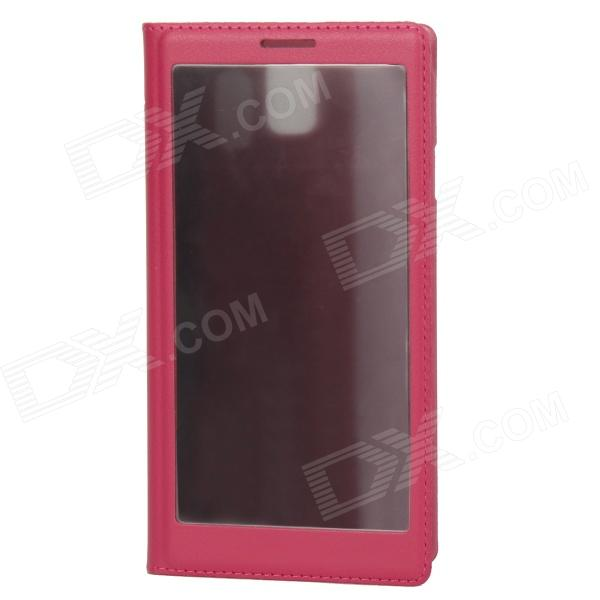 Anti-Peek Protective Flip Cover PU Leather Case for Samsung Galaxy Note 3 - Red rs02 protective flip open pu plastic case for samsung note 3 n9000 red