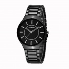 SINOBI 9442 Stylish Men's Retro Trend Quartz Analog Wrist Watch - Black (1 x 10)