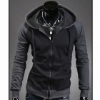Stylish Men's Personality Sweater - Dark Grey + Black (Size-L)
