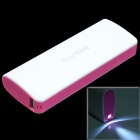 KaisiKing K-1304 10400mAh Portable Power Source Bank for Iphone / Smartphone / MP3 - White + Pink