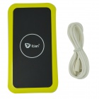 Itian Qi Mobile Wireless Power Charger - Yellowish Green + Black