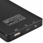 "USB Solar Mobile ""4000mAh"" Power Source Bank for MP3 / MP4 / Iphone / Samsung / HTC - Black"