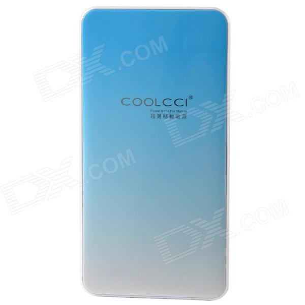 COOLCCI GS2 Ultrathin 4200mAh makt kilde Bank for Samsung / Nokia / Lenovo + mer - lys blå