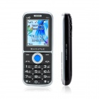 "SHOUYUE V66 GSM Bluetooth V2.0 Bar Phone w/1.8"" Screen, Dual SIM, Metal Body - Black"