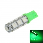 T10 / 194 / W5W 2.5W 250lm 13 x SMD 5050 LED Green Car Side Light / Clearance / Reading lamp - (12V)