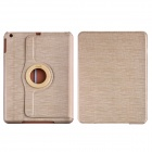 CM001 Protective Fiber Cloth + PC Case Cover Stand for Ipad AIR - Beige + White
