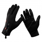 Naturehike-NH Freien Vollfinger Antic feste Winddicht Touch-Finger warme Handschuhe - Schwarz (L)