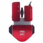 R8 1617 Stylish 1600dpi USB Wired Gaming Mouse - Red (150cm-Cable)