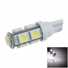 T10 / 194 / W5W 2W 200lm 9 x SMD 5050 LED White Car Side Light / Signal / Reading lamp - (12V)