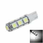 T10 / 194 / W5W 2.5W 250lm 13 x SMD 5050 LED White Car Side Light / Clearance / Reading lamp - (12V)