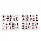 Nail Art Decoration Stickers - Black + Red