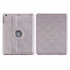 CM001 Protective Fiber Cloth + PC Case Cover Stand for Ipad AIR - Grey