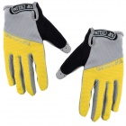 TOPCYCLING TOP901 Outdoor Sports Anti-slip Cycling Full-finger Gloves - Yellow + Grey (Size L)