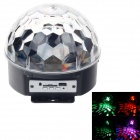Six-Color Light Olympic Rings Magic LED Music Ball Light - Black + Transparent (AC 100~240V)