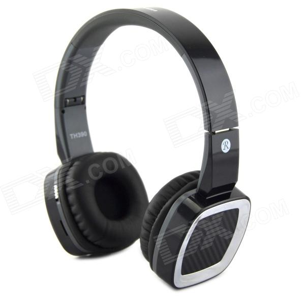 ShengYun TH390 Stereo Bluetooth V3.0 Headphones w/ TF / FM Radio / Mic - Black 1more super bass headphones black and red