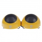 R8 2105 Mini USB Rechargeable Speaker for Laptop - Yellow