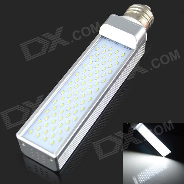 E27 9W 800LM 6000K 80 3014 SMD LED White Light Bulb - White + Silver (AC85-265V) e27 9w 9 led 810 lumen 6000k white light bulb 85 265v ac