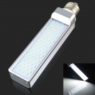 E27 9W 800LM 6000K 80 3014 SMD LED White Light Bulb - White + Silver (AC85-265V)
