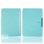 Protective PU Leather Flip Case Cover w/ Auto Sleep for Amazon Kindle Paperwhite - Light blue
