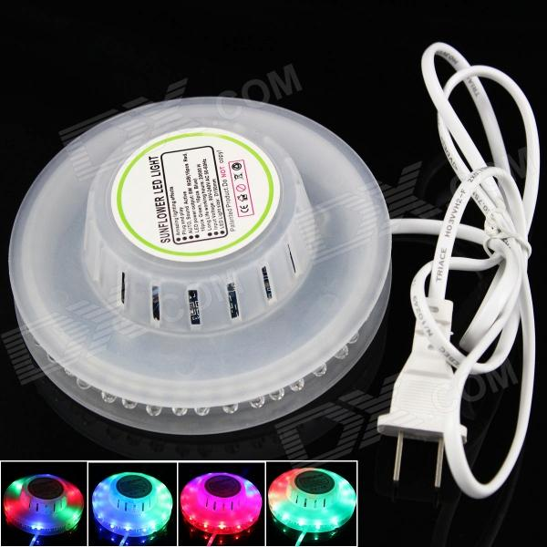 8W 48-LED RGB Sunflower Light - White (AC 90~240V / US Plug / 105cm-cable)