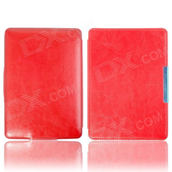 Protective PU Leather Flip Case Cover w/ Auto Sleep for Amazon Kindle Paperwhite - Red smart kindle paperwhite case pu leather cover auto sleep wake for amazon kindle paperwhite 6 inch 1 2 3 6th 2012 2013 2015
