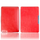 Protective PU Leather Flip Case Cover w/ Auto Sleep for Amazon Kindle Paperwhite - Red
