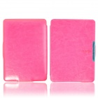 Protective PU Leather Flip Case Cover w/ Auto Sleep for Amazon Kindle Paperwhite - Deep pink