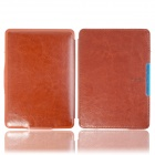 Protective PU Leather Flip Case Cover w/ Auto Sleep for Amazon Kindle Paperwhite - Brown