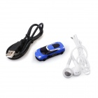 PORTWORLD C01 Fashionable Mini Sports Car Model MP3 Music Player - Black + Blue