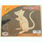Wooden Assembly Rat Model - Wood