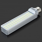 E27 12W 6000K 930LM 60-5050 SMD LED White Light Bulb - Weiß + Silber (AC 85-265V)