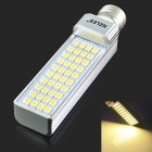 E27 8W 3000K 630LM 40 5050 SMD LED Warm White Light Bulb - Weiß + Silber (AC85-265V)