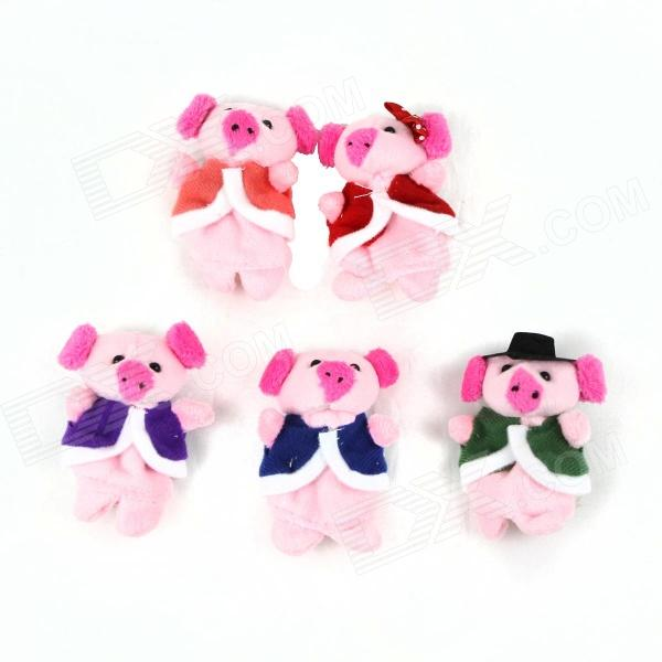 PUMAN Cute Doll Story Finger Five Piglets Toy Set - Multicolored this little world