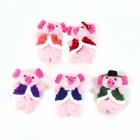 PUMAN Cute Doll Story Finger Five Piglets Toy Set - Multicolored