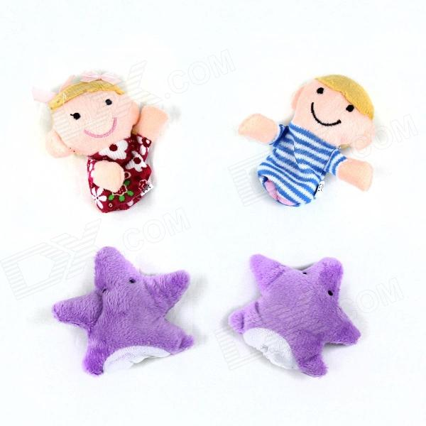 PUMAN mignon Puzzle Finger étoile + Boy + Girl Set - multicolore