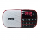 CDA-905 FM Radio TF Card Media Player w/ FM - Deep Pink + Black + Multicolor