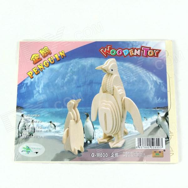 Wooden Assembly Penguin Model - Burlywood