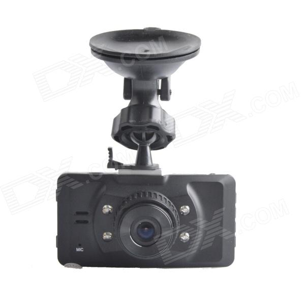 JH001 2.7 TFT 5.0 MP 130 Degree Wide Angle Car DVR Camcorder w/ 4-IR LED - Black