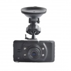 "JH001 2.7"" TFT 5.0 MP 130 Degree Wide Angle Car DVR Camcorder w/ 4-IR LED - Black"