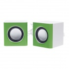 R8 2101 Mini USB Rechargeable Speaker for Laptop - Green + White