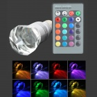 FengYang E27 3W 30lm RGB LED Lamp + 24-Key Remote Controller (AC 85~265V)