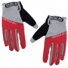 TOPCYCLING TOP901 Outdoor Sports Anti-slip Cycling Full-finger Gloves - Red + Grey (Size L)