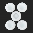 Protective Anti-Slip Silicone Caps for XBOX 360 / 360 Slim / One Joystick - White (5 PCS)