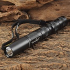 TANK007 TK566 365nm Ultraviolet UV LED Flashlight - Black (2 x AA)