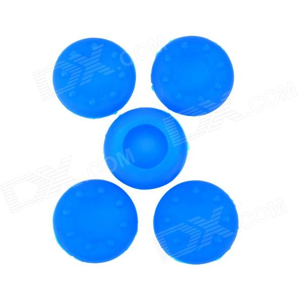 Protective Anti-Slip Silicone Caps for XBOX 360 / 360 Slim / One Joystick - Deep Blue (5 PCS) mini portable usb rechargeable ems rf radio frequency skin stimulation lifting tightening led photon rejuvenation beauty device